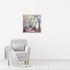 Buy Original Art Joe Armstrong Trelissick Autumn Woodland Walk In Situ