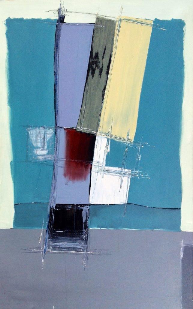 Jane Hagan - Grey Green Abstract - Acrylic Canvas - Large