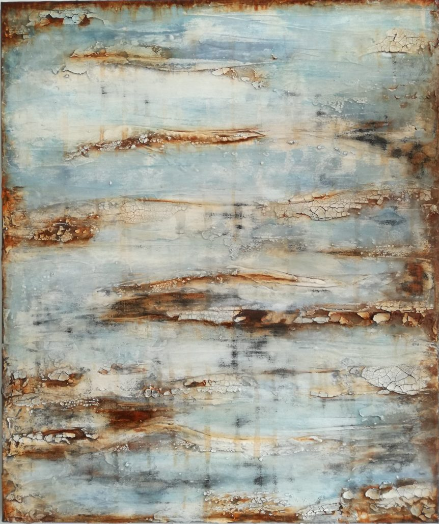 Shelly Cook Acid Rain Canvas Acrylic Texture Paint Abstract Medium