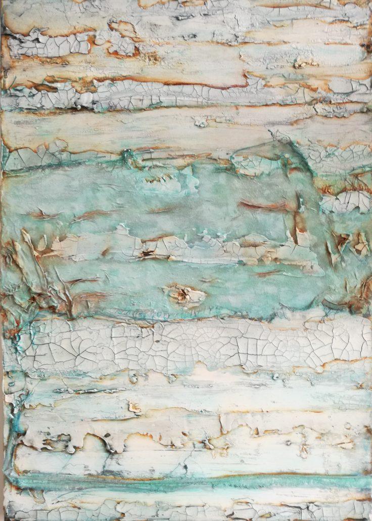 Shelly Cook Exploring Canvas Acrylic Texture Paint Abstract Medium