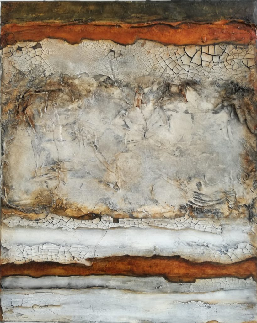 Shelly Cook Layers Of Decay Canvas Acrylic Texture Paint Abstract Medium