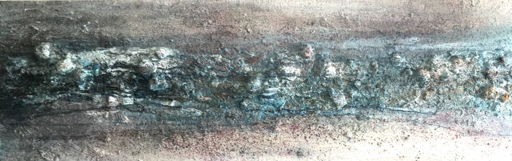 Simon Hartles - Portherras Cove - Oils, Acrylics, Spray paints, Inks, Varnishes, Clays, Oxides - Board - Medium