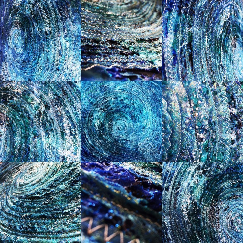 Wendy Horner Cornish Galleries Buy Rent Art Textile Blue